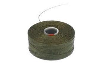 S-Lon D Beading Thread. Superlon Bead Weaving Thread. Olive x 1