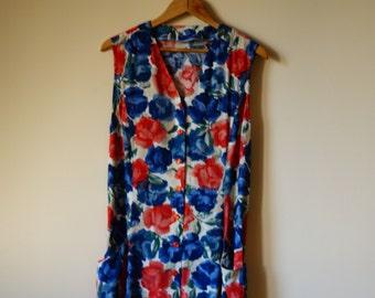 Vintage 90s Hand-made Floral Dress