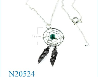 Dream Cathcer & Feather Necklace