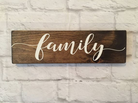 Family Wood Sign Wood Family Wall Art Rustic Wood Signs Etsy
