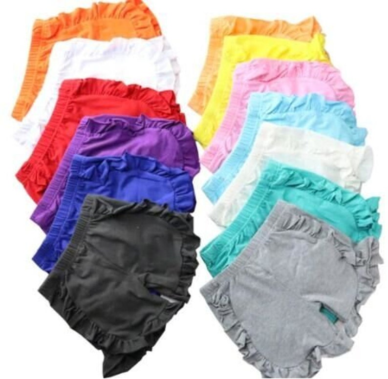 fdcd42e15 Icing Ruffle Shorts Blank Wholesale IN STOCK Ruffle Shorts | Etsy