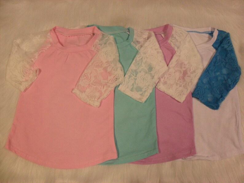 9ae6e578 IN STOCK Blank Lace Sleeve Icing Ruffle Raglan Tops Ruffle | Etsy