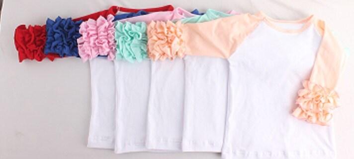 Wholesale Blank Ruffle Raglan Tops In Stock Ruffle Shirts Etsy