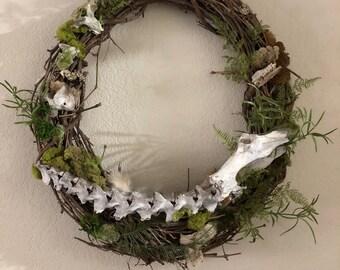 Extra large bone wreath   Vulture Culture