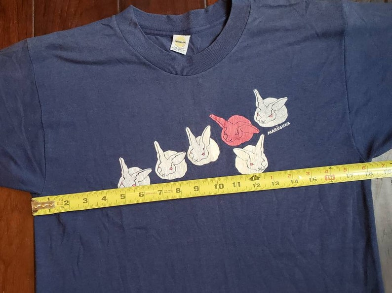 Vintage 80s Rabbits Bunny Rabbit Lover Animal Lover Pet Lover Easter Bunny soft thin single stitch twe t shirt
