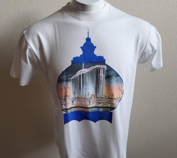 Vintage 80s Atlantic City T-Shirt  Paper thin 1980s Atlantic City boardwalk Art-Show Shirt  80s AC illustration tee size M