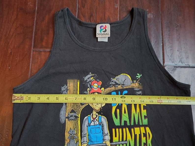 NOS vtg 90s Big Game Hunter Hunting Dogs Animals White Trash Hillbilly Funny Cartoon 1995 single stitch singlet t shirt