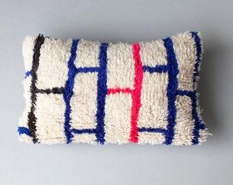 Brick Beni Pillow, Moroccan Beni Ourain Pillow, Modern Moroccan Pillow, 25 x 16