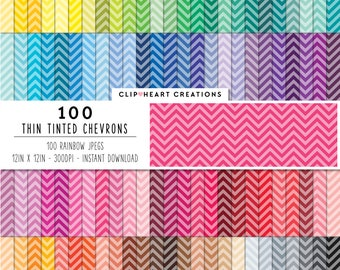 100 tinted chevron paper, Digital paper, Commercial use, thin chevron, digital chevron paper, digital scrap booking paper, chevron paper