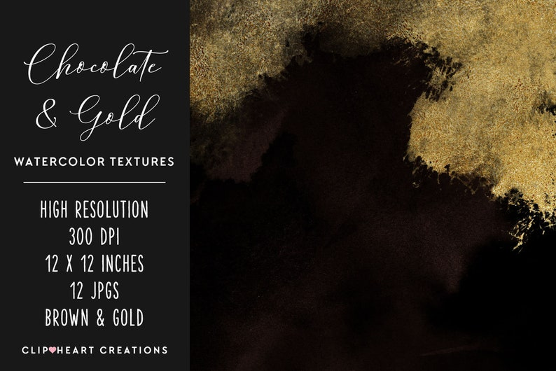 Commercial Use Instant Download Foil Digital Paper Watercolor Papers Brown /& Gold Watercolor and Foil Digital Papers