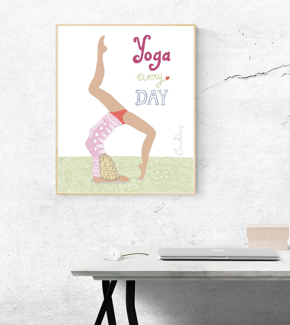 Yoga Art Print Yoga Studio Decor Yoga Wall Art Yoga Every Etsy