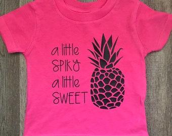 A Littly Spiky A Littke Sweet // Pineapple Shirt