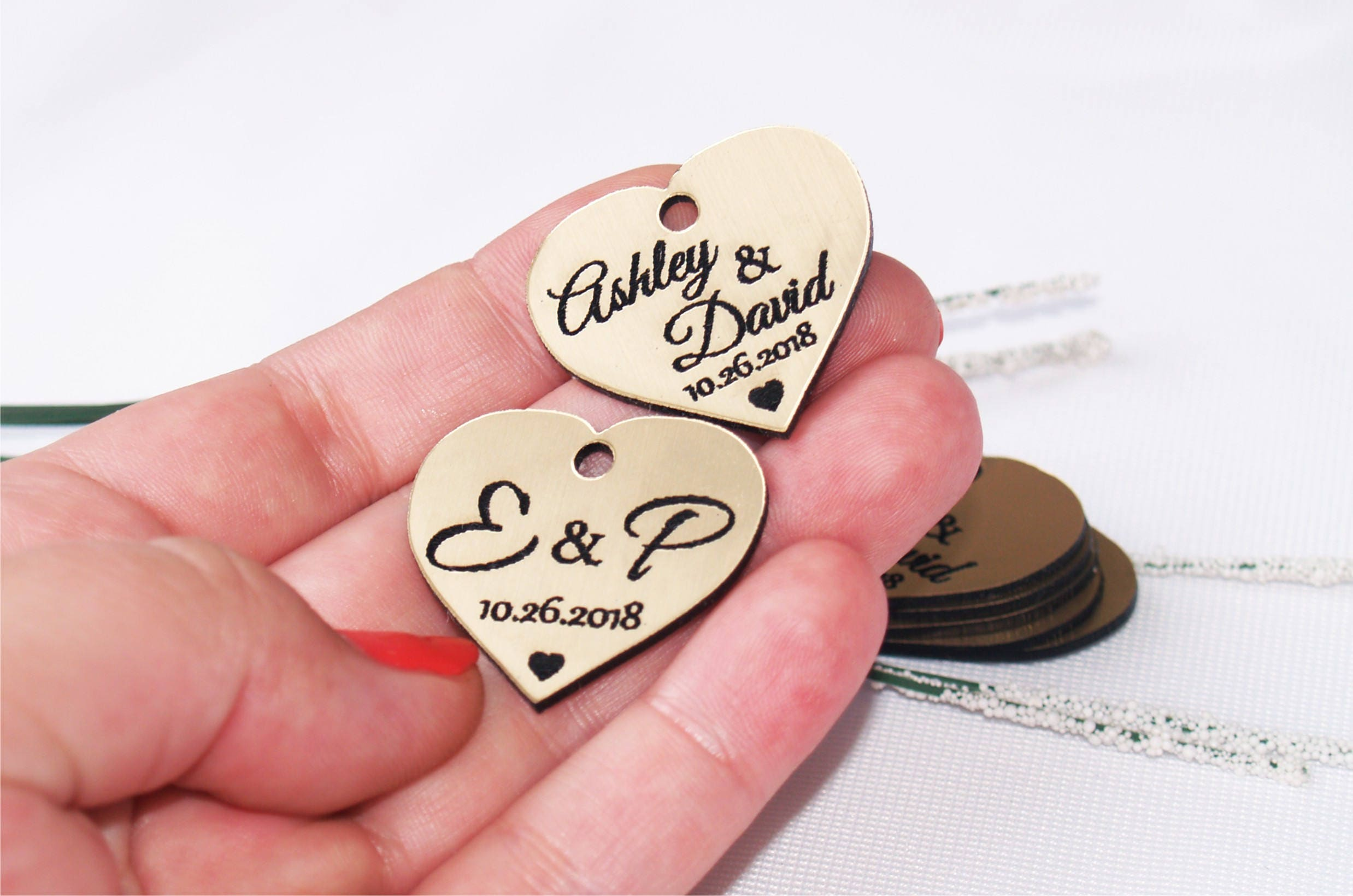 Wedding favor, Wedding tags, Wedding favor tags, Gold tags, Wedding ...