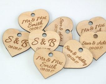 Wedding favor, Wedding favor tags, Wood tags, Wedding favor rustic, Wood hearts, Wedding hearts, Wedding tags, Custom favor, Custom tags