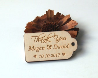Thank you wood wedding tags, Wedding favors, Gift tags, Wedding favor rustic, Wedding tags, Custom tags, Wooden tags, Thank you rustic