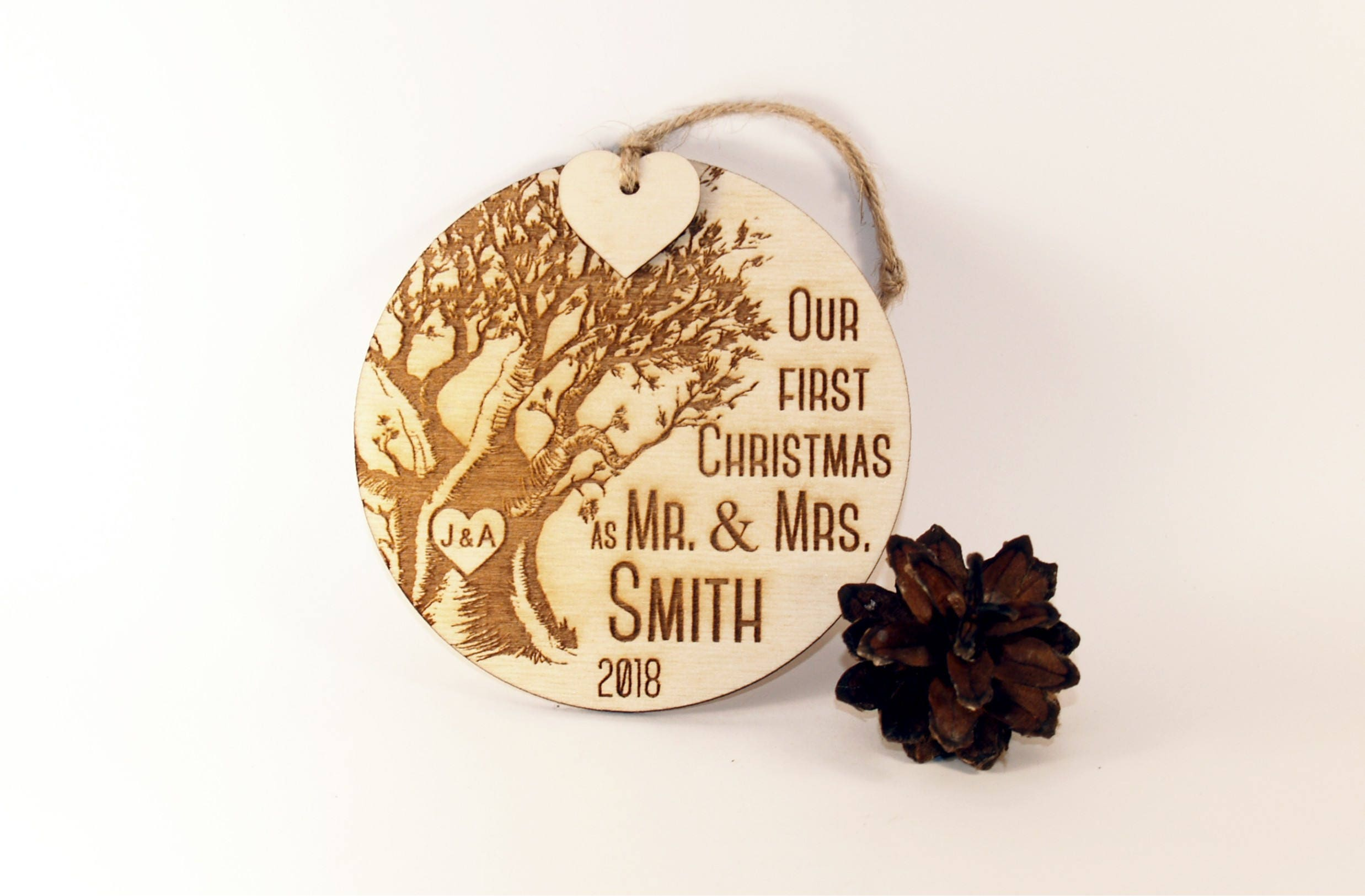 our first christmas ornament just married ornament wedding