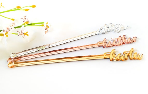Custom Drink Stirrers Personalized Swizzle Sticks Wedding