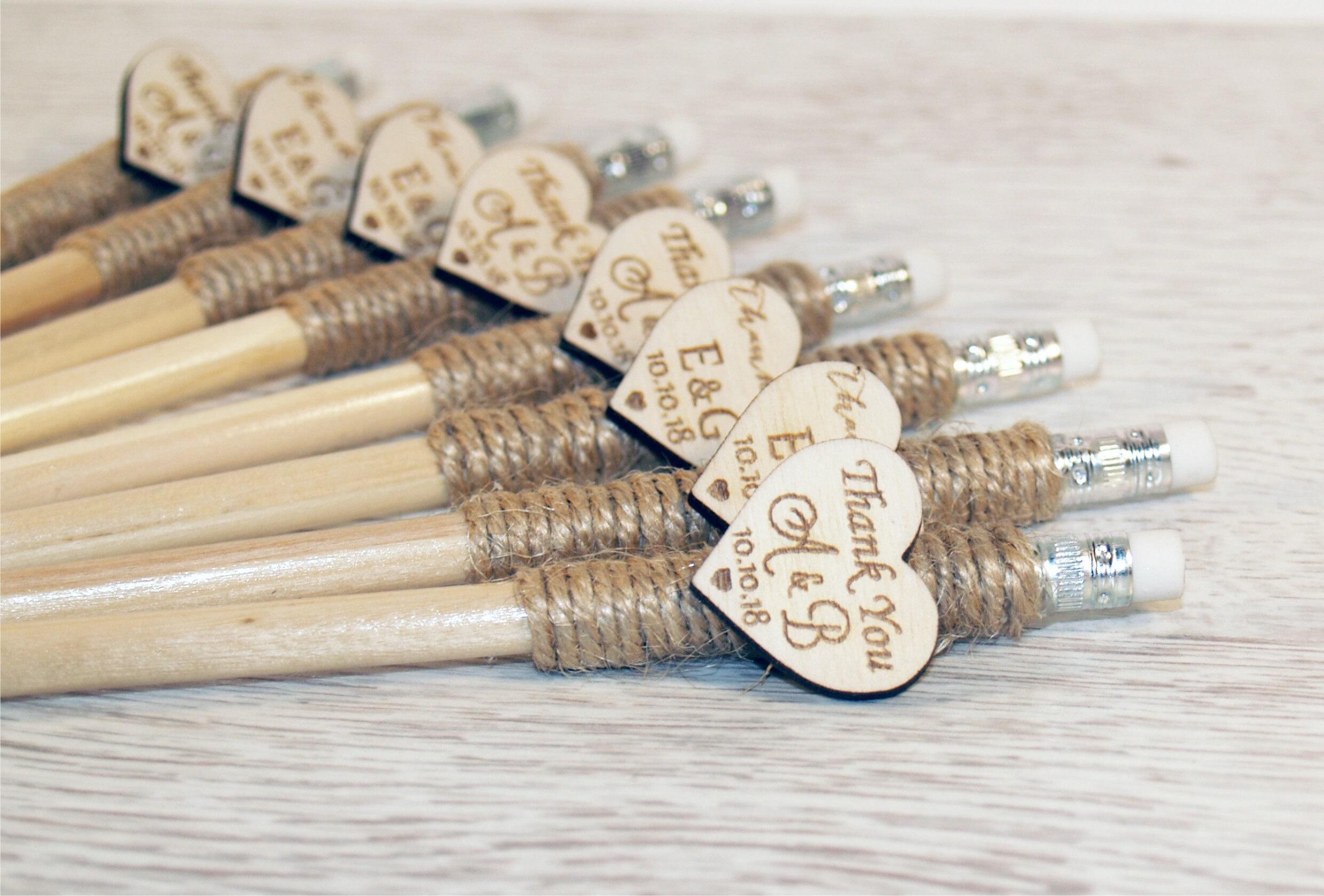 Wedding pencil, Custom pencil, personalized pencil, Engraved pencil ...
