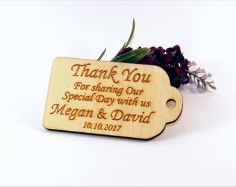 Thank you wedding tags, Rustic tags, Wedding favors, Gift tags, Wedding favor rustic, Wedding tags, Custom tags, Wooden tags, Rustic wedding