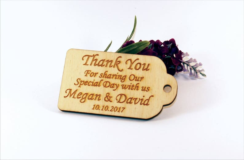 Thank you wedding tags Rustic tags Wedding favors Gift image 0