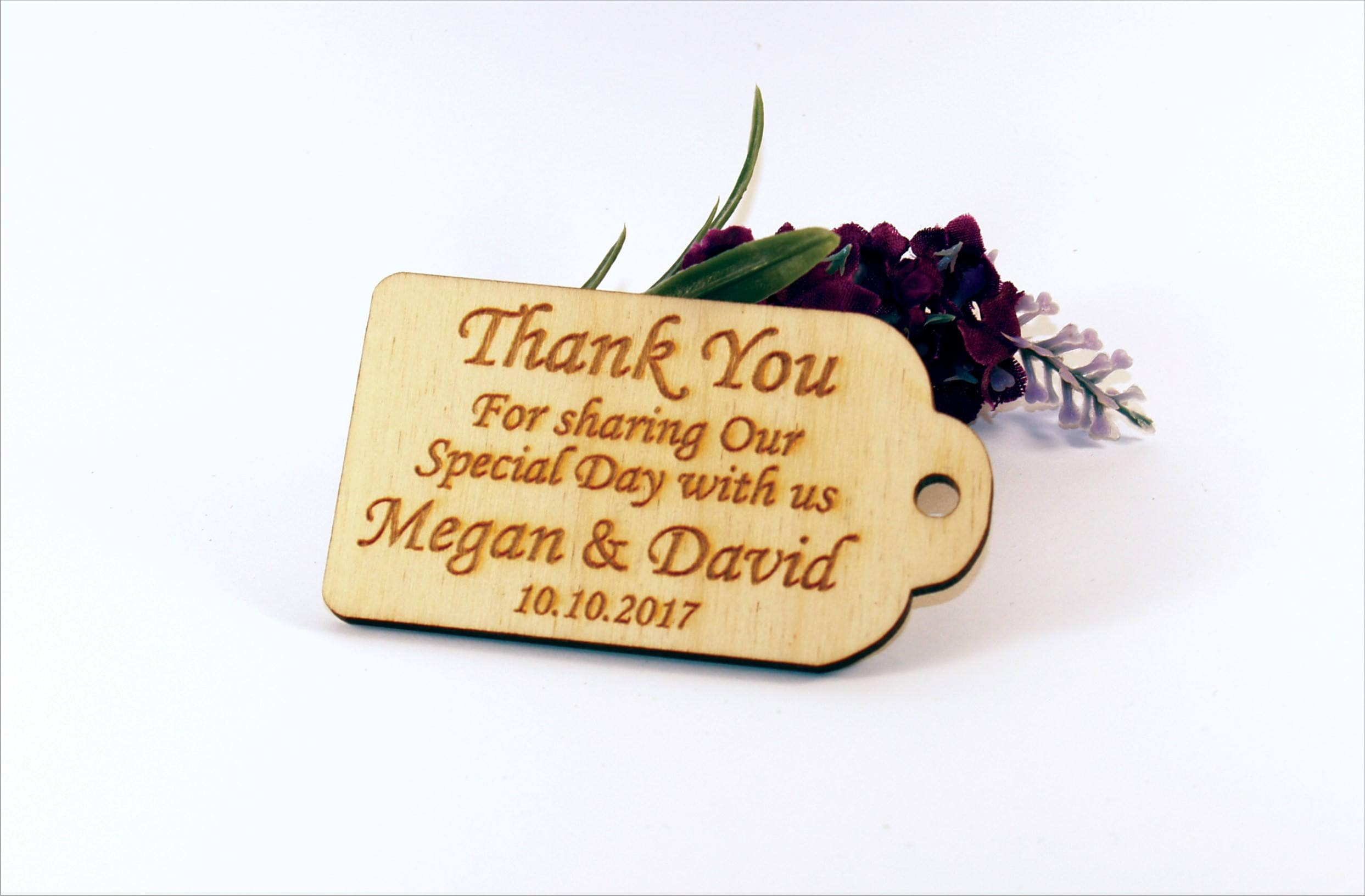 thank you wedding tags rustic tags wedding favors gift tags