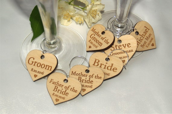 Wedding wine charms Wine charms Wine glass charms Wedding