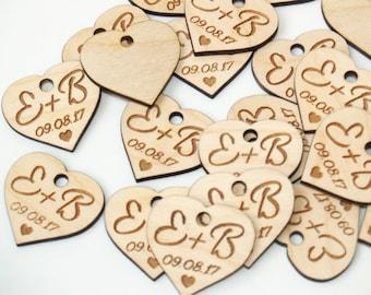 Wedding favor, Wedding favor tags, Wedding favor rustic, Wooden hearts, Wedding hearts, Wedding tags, Custom favor, Custom tags, Wood tags