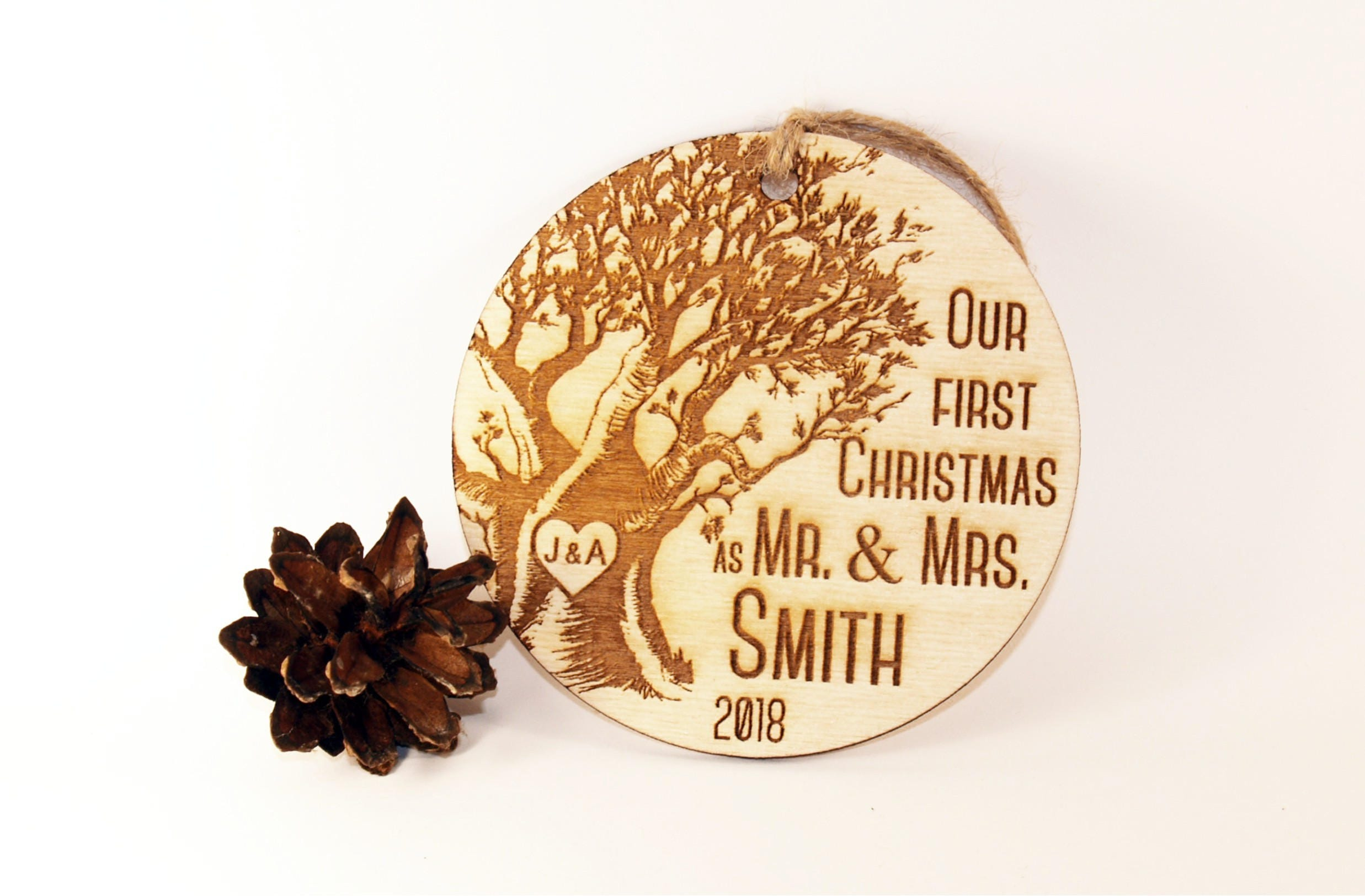 personalized our first christmas ornament just married ornament
