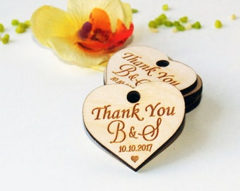 Thank you wood wedding tags, Wedding favors, Gift tags, Wedding favor rustic, Wedding tags,Wood tags, Custom tags, Wooden tags, Rustic tags