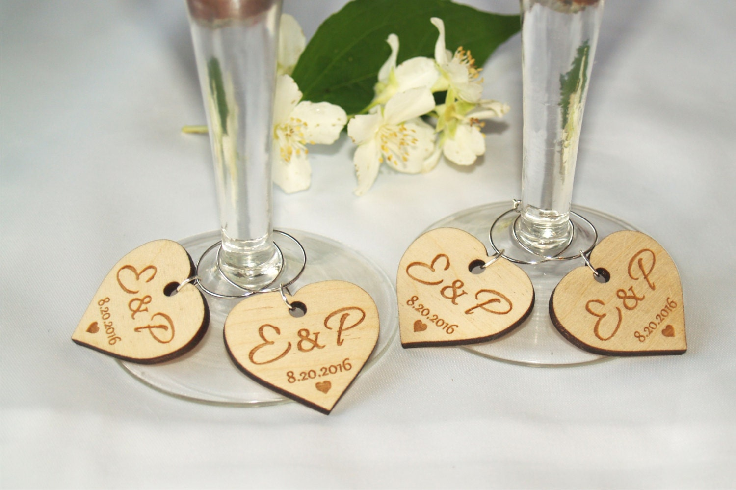 Wedding wine charms, Wine charms, Wine glass charms, Wedding charms ...