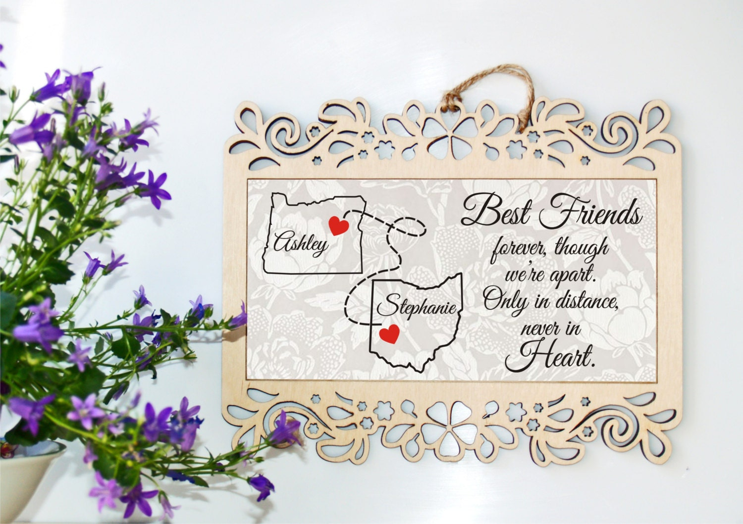 Long Distance Relationship Gift Long Distance Relationship Frame