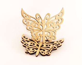 5Wood butterfly, Wedding favor, Butterfly shape, Wooden butterfly shape, Wood tags, Wooden shapes, Butterfly, Baptism favors, Wood butterfly