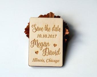 Save the date, Save the date rustic, Save the date magnet, Wood save the date, Save the date magnet rustic, Wedding favors, Magnet heart