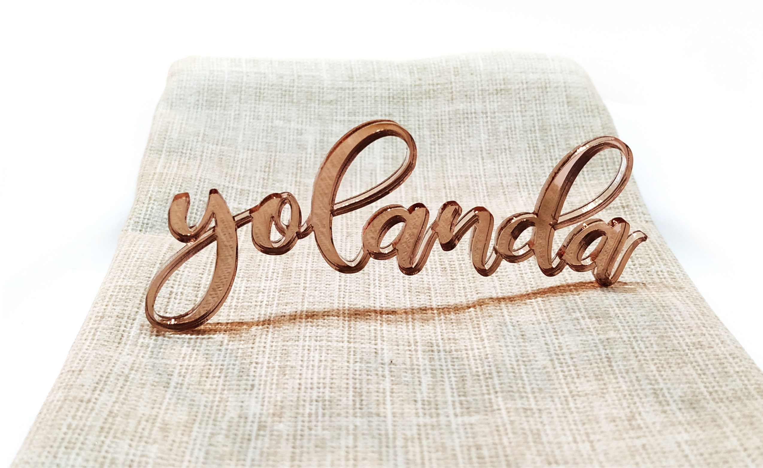 table name signs plate name rose gold mirror table name wedding