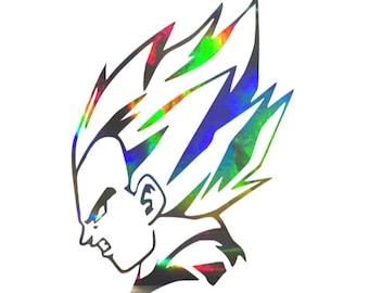 Buy 2x Pair Side Goku Blue Power Strike Z Gt Super Saiyan Hood God Anime Manga Car Vinyl Sticker Decal