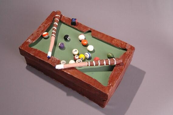 Remote Control Caddie Pool Table Handmade Storage Box Bin Pool - Handmade pool table