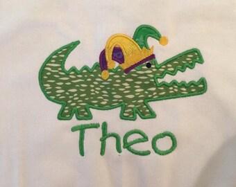 Mardi Gras Alligator Shirt