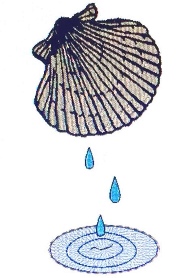 baptismal shell 5 x 7  etsy
