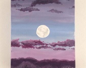 "Original acrylic painting of ""Mahina"""