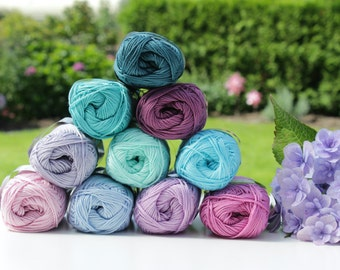 Choose ANY 10 Catania yarn balls / ALL colors available / Schachenmayr Catania yarn /  Shipping WORLDWIDE / Crochet and Knitting Yarn