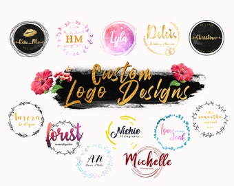 Custom LOGO Design | 12 Designs | *Made to ORDER * | Premade Logo | Circle | Business Logo | Personalized | Logo