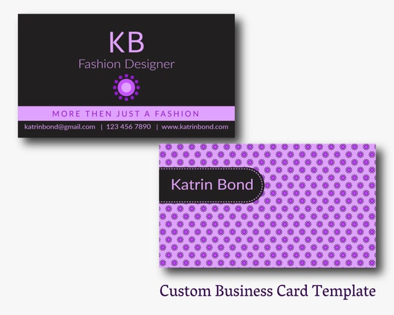 Business card template calling cards custom business cards etsy image 0 friedricerecipe Gallery