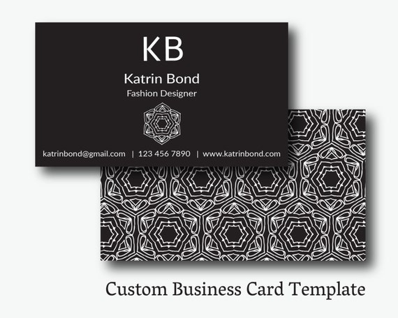 Business card template calling cards custom business cards etsy image 0 accmission Gallery