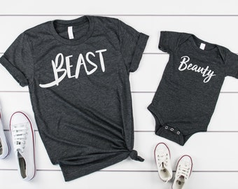 0dc30547ae8 Fathers day gift set- father son tshirts- matching fathers day shirts- matching  dad shirts- father daughter shirts- beauty and beast shirts-
