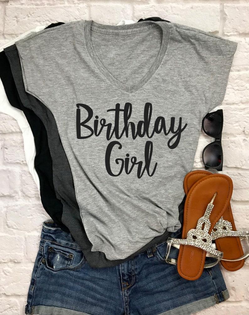 Birthday Girl Shirt T Womens