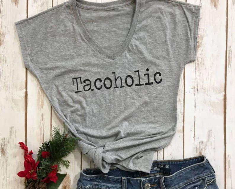 b8d58c26 Cinco De Mayo shirt TACOHOLIC vacation shirt womens shirts   Etsy