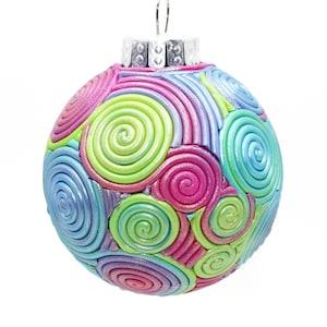 Victorian Christmas Ornament ~ White Glass Ornament ~ Purple Christmas ~ Elegant Christmas ~ Hand Decorated ~ Unique and Pretty ~ Gift Boxed