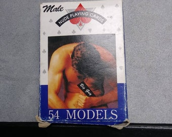 Erotic Playing Cards Nude Men's set of 54 (Rare) Super Nice !!!