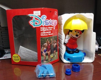 "Old Vintage Disney Mickey Mouse Sprinkler 9"" Tall By Walt Disney Prod. 1960's with O/B"