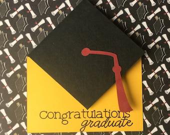 Graduation Card, Handmade Graduation Card, Money Holder Graduation, Gift Card Holder, Custom Graduation